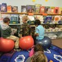 The Mcclelland School Photo - The McClelland School has active seating in Kindergarten-2nd grade. We have stability disk in chairs at the student's desks and stability balls in the reading areas. This helps to stimulate blood flow, encourage active learning and develop core muscles.