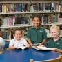 Boca Raton Christian School Photo #5 - Elementary students in the Media Center
