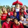 Colonial Christian School Photo #7 - Here is our mascot, The Patriot, with our secondary students.
